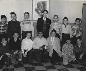 1st row left to right:                                                                                                                                                                     ?, Walter Karpowski,Billy Knaff, Gus Tsentas, Frank Falotico,?, David Cesareo.                                                                                                                                                                             Top row L to right: ?, Dennis Albright ,John Gloistein, ? Drew  Stohl,                                                                                                                                                                                                                                                               William Connerty, Bob Gallione