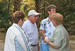 8-Frances M., Don V. & wife Ruth, & Arlene G.