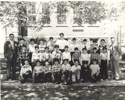 11 Washington school sixth grade baseball team, taken in 1950.  The teacher to the left is Rocco Montesano (deceased), and to the right is C. Donald Jess, who went on to become superentendent of schools.  Mr. Jess died in 2004.