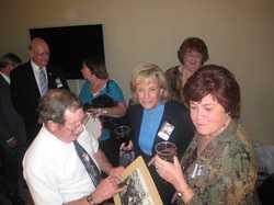 Back: Eric Schleiffer, Sue Coppock, Sue Soltis Leopold Front: Greg Curtin, Arlene Kallman Delgado, Joyce Klie Sarver   IMG_0230.JPG