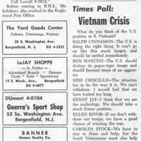 Check out the Times poll and the responses to the Viet Nam question. Especially the last answer!! Great answer Carleen!