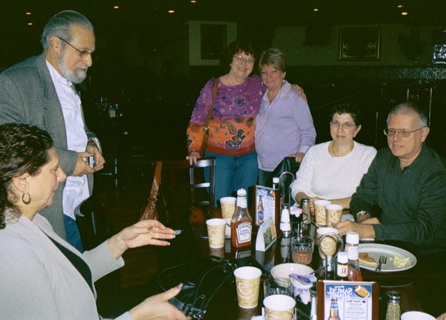 Linda Esposito, Bill Goldberg,Bev Muller Ellen Edwards,Oran Digman and wife