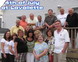 July 4, 2008Front row: Brian Judge ('66),Susan Kennedy Judge (68),Wila Giordano, Betty Heiner Cantamessa (66), Joan McCoo Lusko (66), Hyla Layne, Joan Veltre, Josephine Gentile,Margaret Graham....Back Row- Bob Layne (66), Bill Savage (66), Tom Gentile (66) Greg Germakian (66), Al Giordano (66) Lou Veltre (66), and Joe Cantamessa (66)