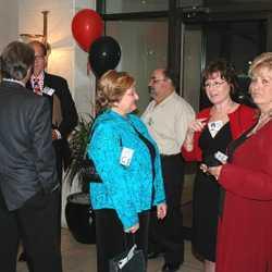 DSC 0029 Rick Gillies, George Gebhart, Diane Gideon, Joe DiMaggio,  Barbara Terzano, Janet Berger