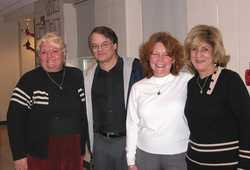 Sandy Hendrickson, Jack Brondum, Janis England, Elaine Kyriakides '64
