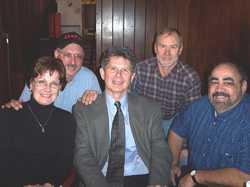 Barbara Terzano, Steve White, Bill Kopp, Holden Texel, Joe DiMaggio