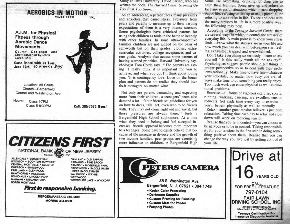 The Bear Facts 1985 page 5 bottom