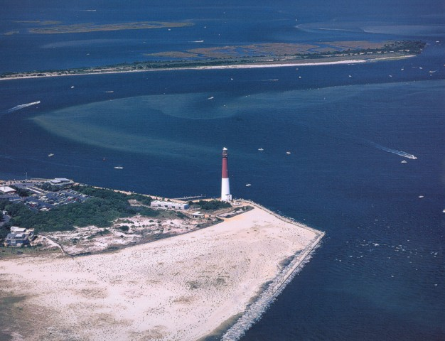 Barnegat inlet and lighthouse