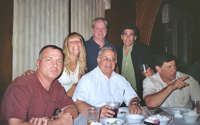 Mike Davion'75, Gina Barca McDonnell'74, Bill Walsh'77, Former Coach Alex Turnamian, Ron Maugeri'77 and Frank Maugeri'73