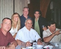 Mike Davion'75, Gina Barca McDonnell'74, Bill Walsh'77, Former Coach Alex Turnamian, Ron Maugeri'77 and Frank Maugeri'73